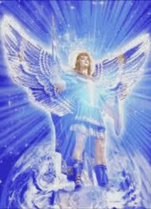 arcangel miguel luz azul