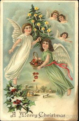 Angeles antiguos navidad