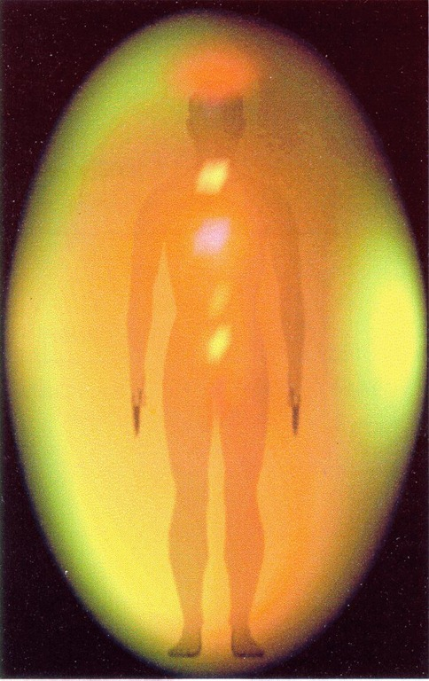 dentro de un huevo de luz